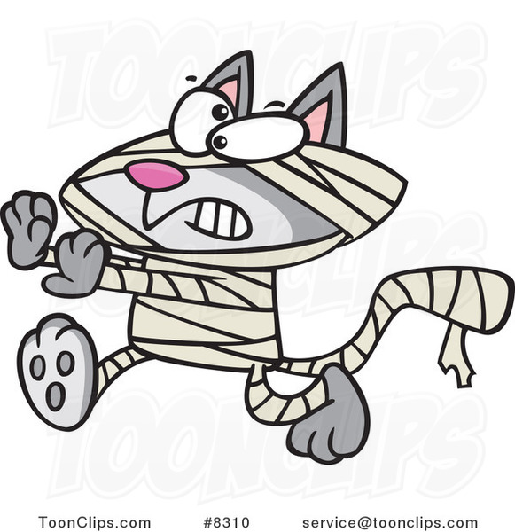 Cartoon Mummy Cat