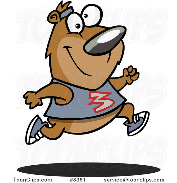 Cartoon Jogger Bear