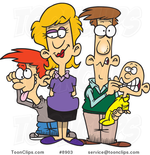 Cartoon Silly Family