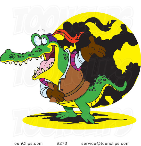 Cartoon Actor Crocodile Bowing