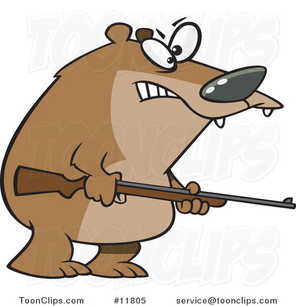 Cartoon Armed Bear