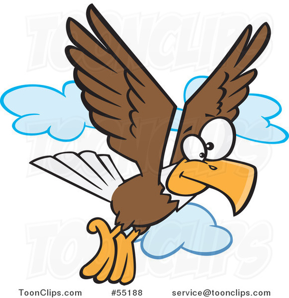 Cartoon Bald Eagle Flying