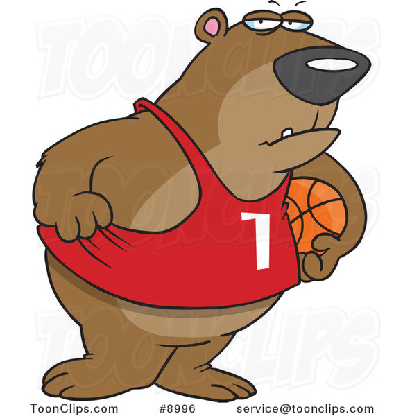 Cartoon Basketball Bear