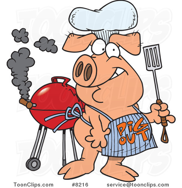 cartoon bbq pig wearing a pig out apron 8216 by ron leishman pirate clip art free images pirate clip art printable