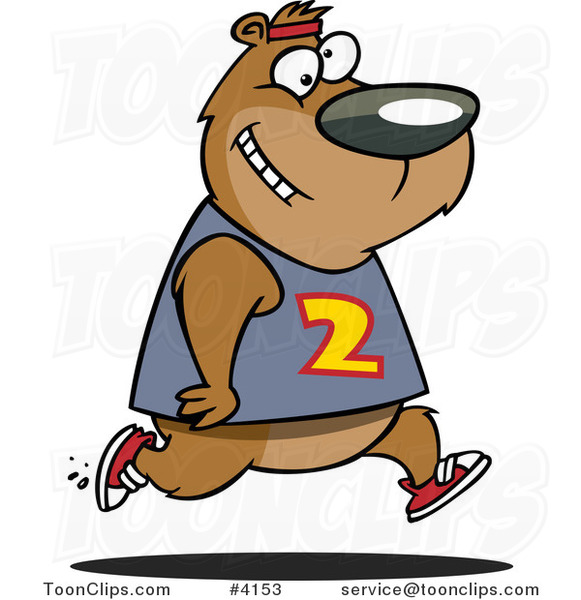 Cartoon Bear Jogging