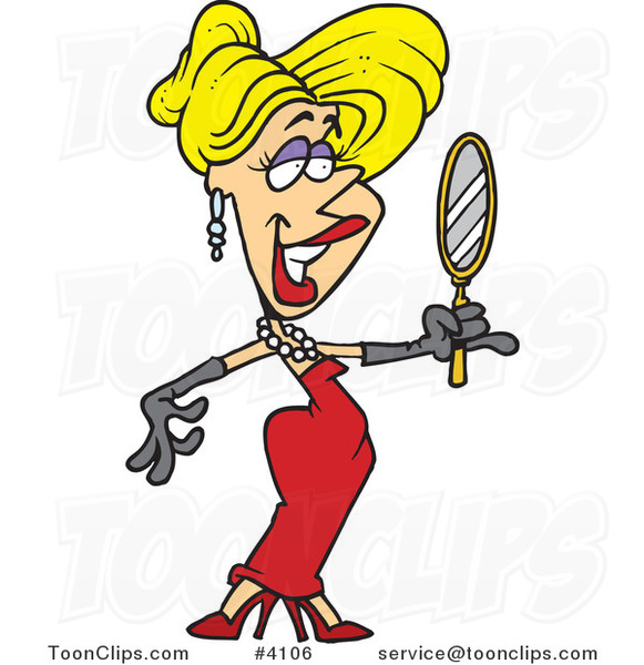 cartoon beautiful blond lady using a hand mirror 4106 by st patrick clip art st patrick's clip art games