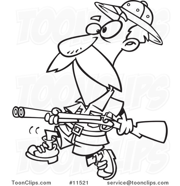 cartoon big game hunter with a rifle black and white football outline clip art shoe football outline clip art free