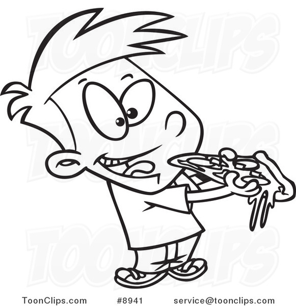 cartoon black and white line drawing of a boy eating pizza pirate clip art black and white pirate clip art free images