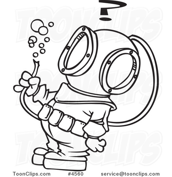 cartoon black and white line drawing of a diver looking at football helmet clipart black and white football clip art black and white and bear