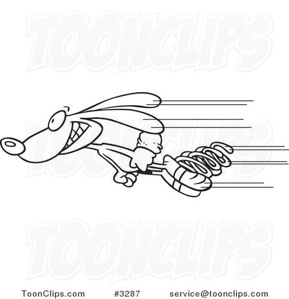 cartoon black and white line drawing of a fast rabbit st patrick's clip art free st patricks clip art angry leprechaun