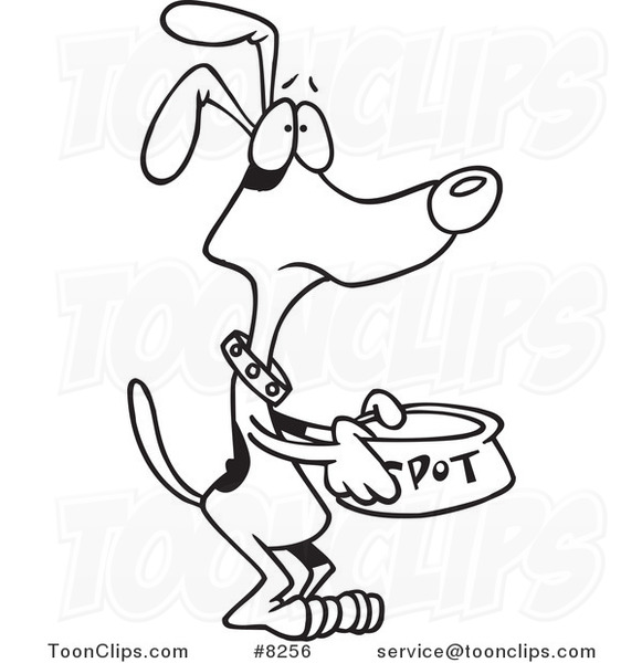 Black and white dog drawing - photo#9