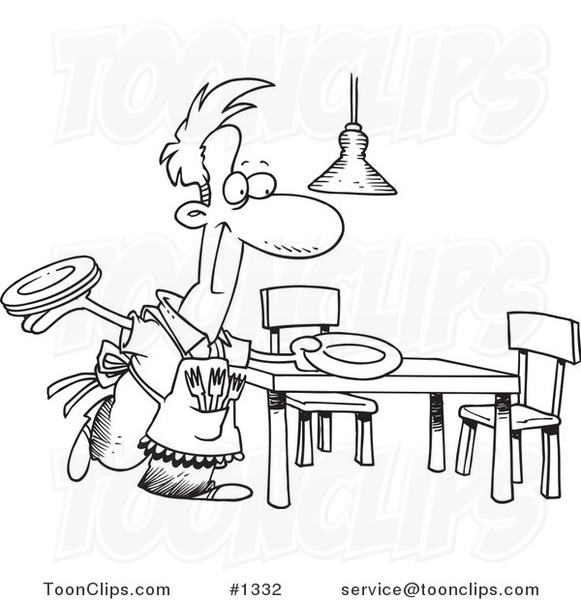 table setting coloring pages - photo #47