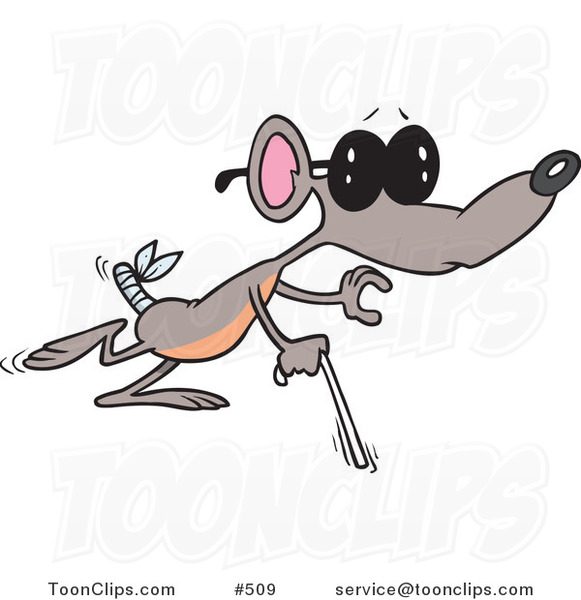 Cartoon Blind Mouse 509 By Ron Leishman