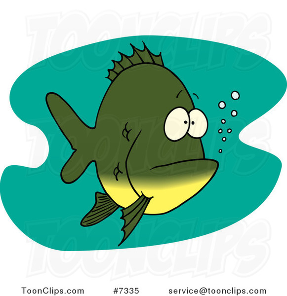Cartoon Bored Fish