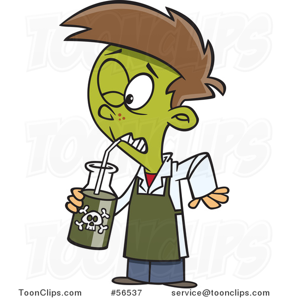 cartoon boy turning green and drinking a poisonous school kid clipart school kids clipart birthday border