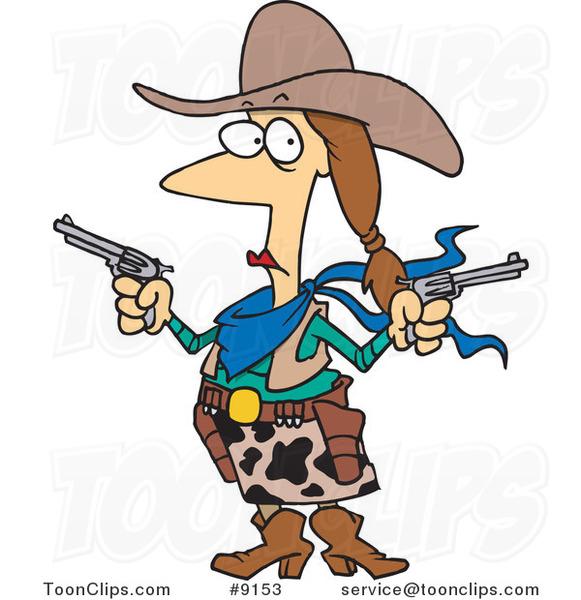 El juego de las imagenes-http://toonclips.com/600/cartoon-cowgirl-holding-guns-by-ron-leishman-9153.jpg