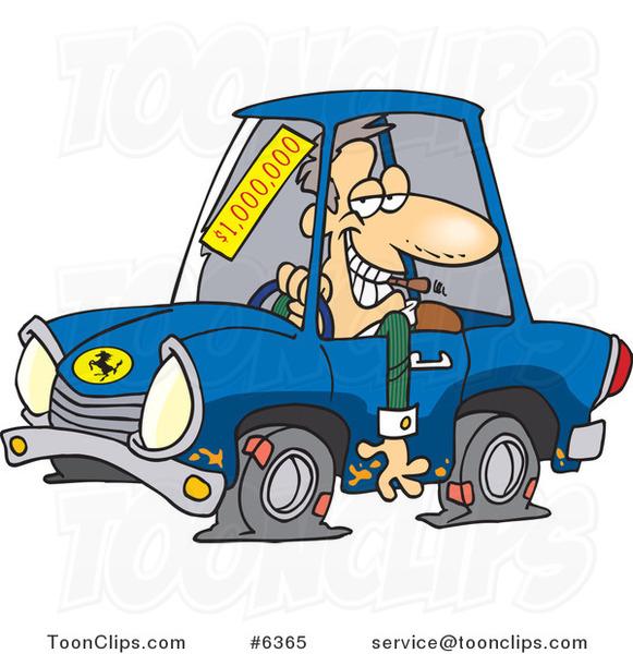 Cartoon Deceptive Car Salesman #6365 by Ron Leishman