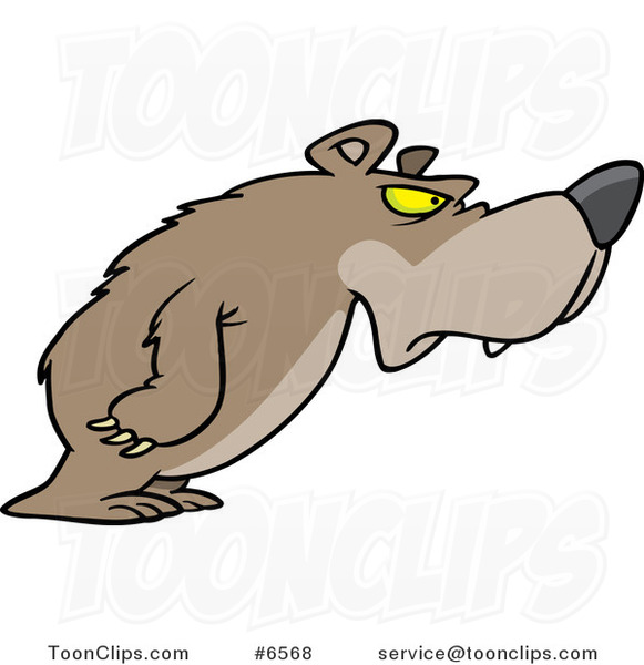 Cartoon Disgruntled Bear