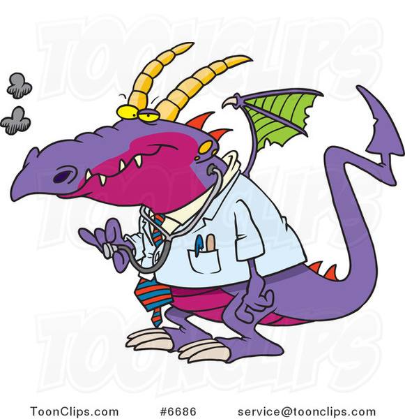 Cartoon Doctor Dragon