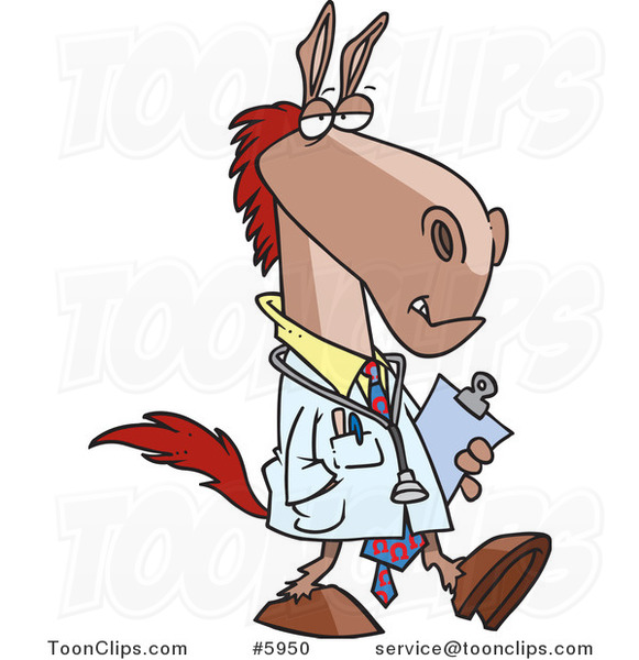 Cartoon Doctor Horse