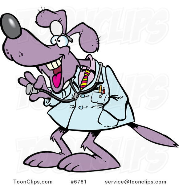 Cartoon Dog Doctor