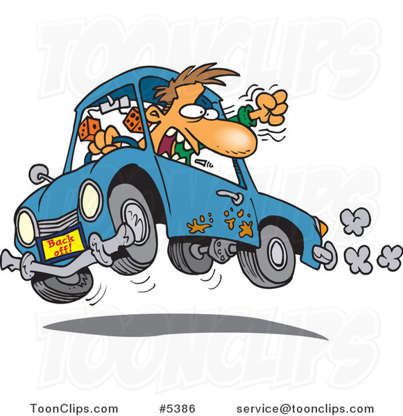 Police Car Driving Cartoon
