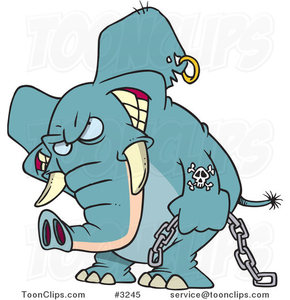 A combien nous arrêterons-nous ? - Page 13 Cartoon-evil-elephant-carrying-a-chain-by-ron-leishman-3245
