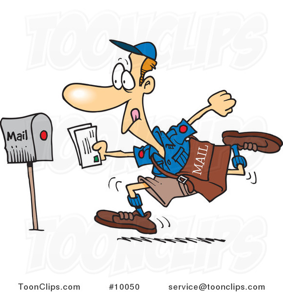 Cartoon Fast Post Guy 10050 By Ron Leishman
