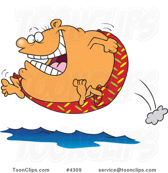 Thanksgiving Images 2017 >> Cartoon Fat Guy Jumping into Water #4309 by Ron Leishman