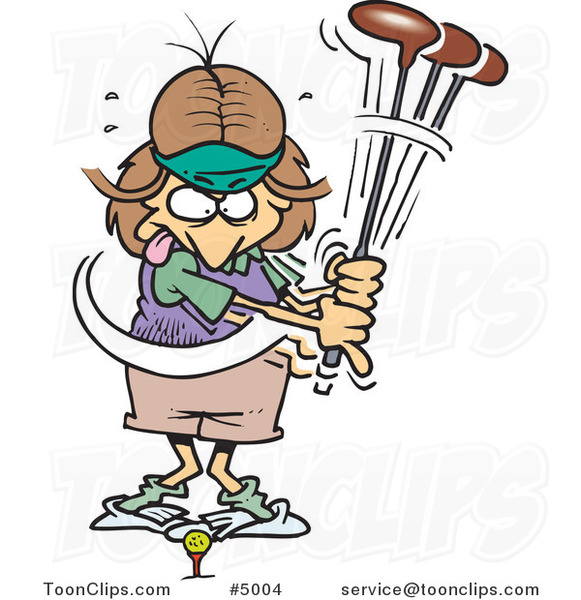 Image result for cartoon lady golfers