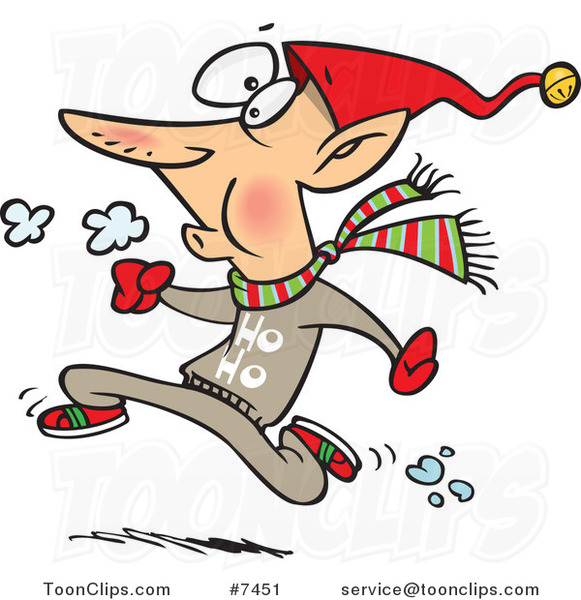 Cartoon Fit Elf Running
