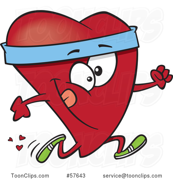 Cartoon Fit Love Heart Character Running