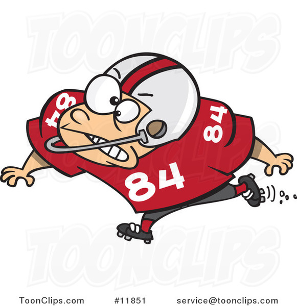 Cartoon Football Blocker