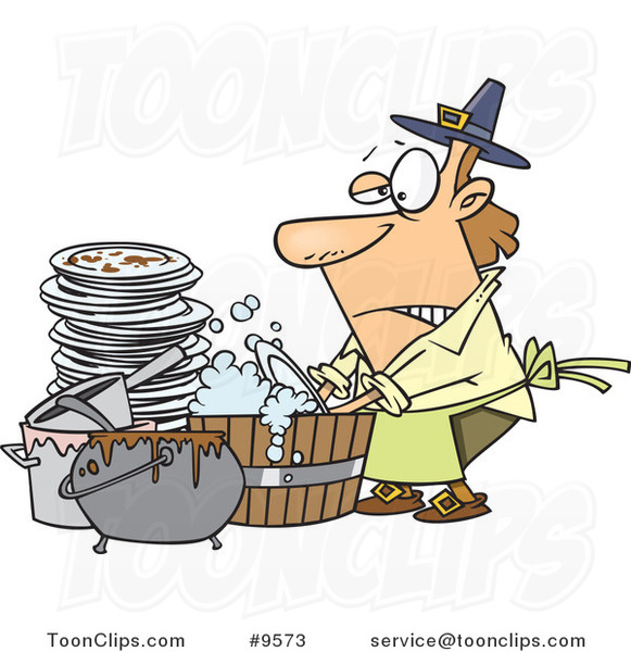 cartoon guy washing dishes in a barrel 9573 by ron leishman dirty dishes in sink clipart dirty dishes clipart
