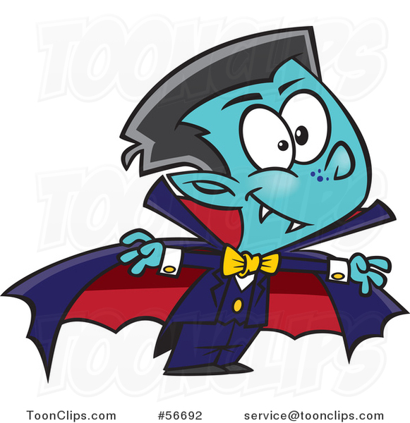 Cartoon Halloween Vampire Boy
