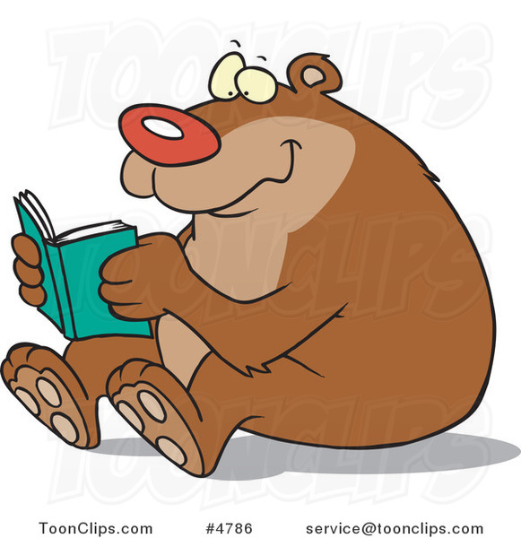 Cartoon Happy Bear Reading