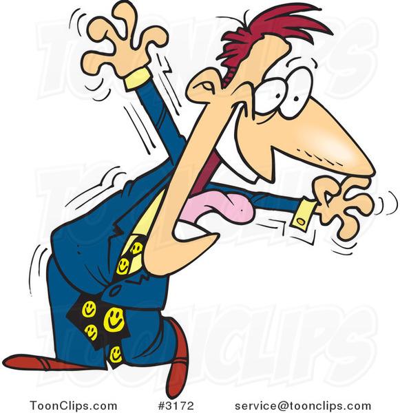 Cartoon Hyper Business Man 3172 By Ron Leishman