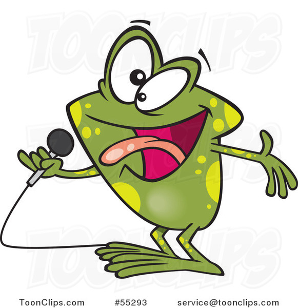 Cartoon Karaoke Frog Singing