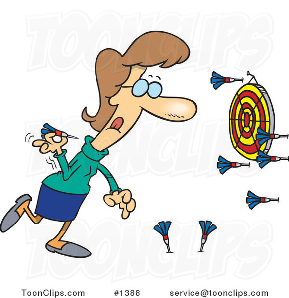 cartoon lady missing the target while throwing darts 1388 hockey player clipart no background hockey player clipart 17