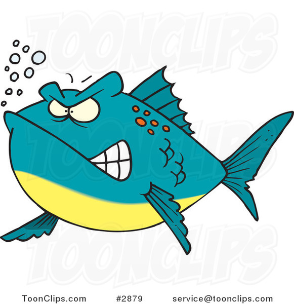 Cartoon Mad Fish