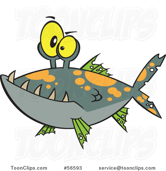 Cartoon Monster Fish