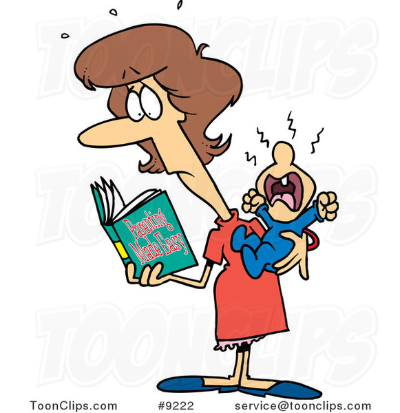 El juego de las imagenes-http://toonclips.com/600/cartoon-new-mom-reading-a-parenting-book-by-ron-leishman-9222.jpg