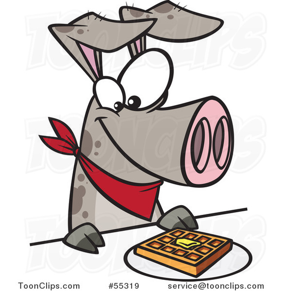 cartoon pig eating a waffle 55319 by ron leishman cats clip art free printable cast clipart
