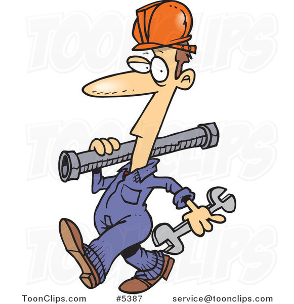 Cartoon Pipe Rigger