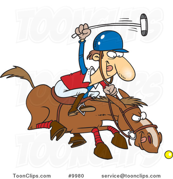 Cartoon Polo Player