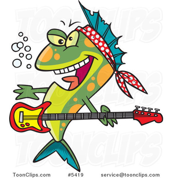 Cartoon Rocker Fish