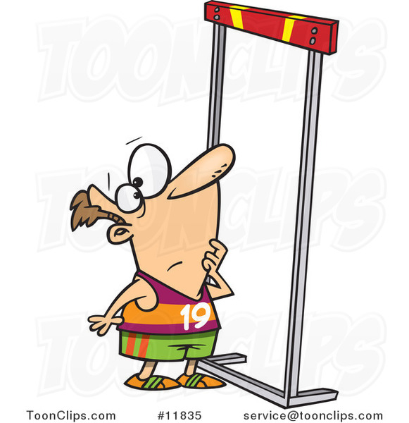 cartoon runner looking up at a high hurdle 11835 by ron pirate clip art free printable pirate clip art images
