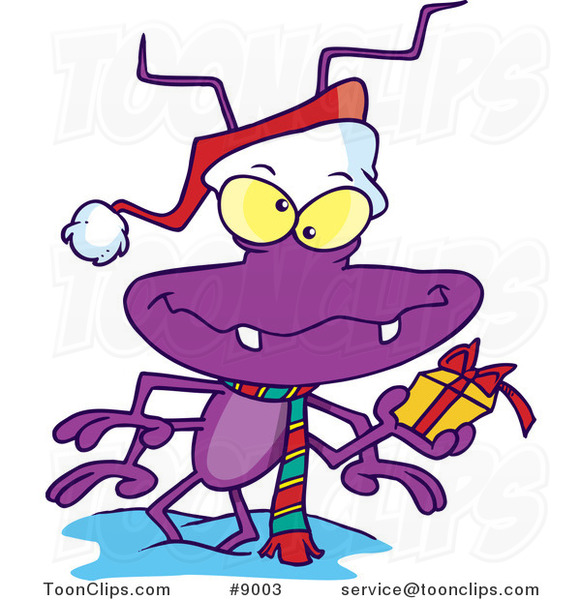 Cartoon Santa Bug
