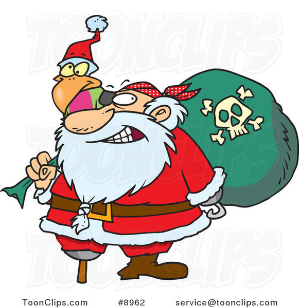 Cartoon Santa Pirate