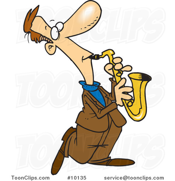 Cartoon Sax Player
